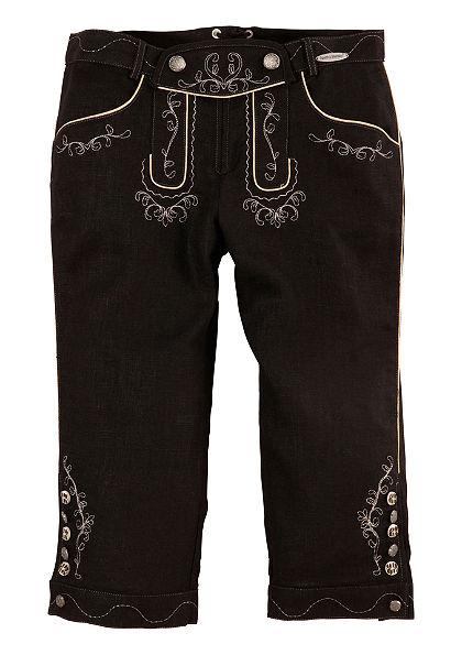 Krojové nohavice 3/4 dĺžka v ľanovom vzhľade, Spieth & Wensky