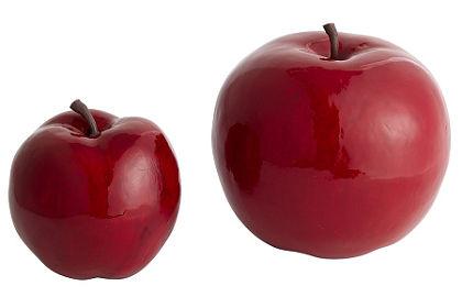 Dekorace, jablko (2 ks)