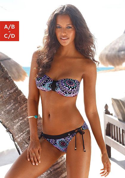 Pánt nélküli bikini etnóstílusó mintával kivehető betéttel, s.Oliver