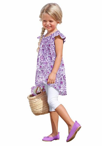 CFL hosszú póló & legging virág mintával (Szet, 2 részes), lányoknak