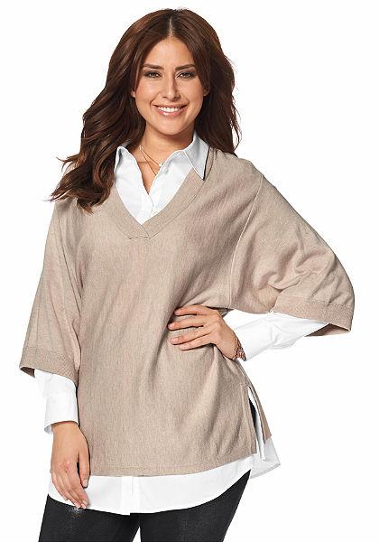 Apart V-nyakkivágású pulóver