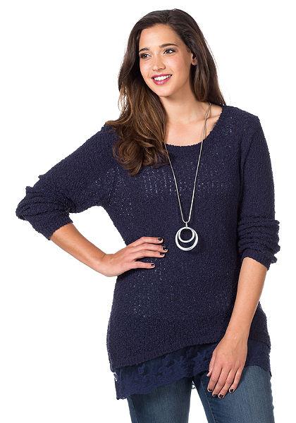 sheego Style hosszú pulóver