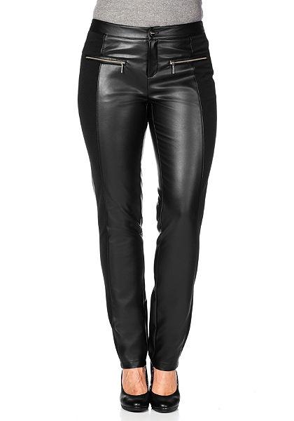 sheego Trend műbőr nadrág