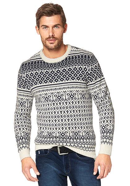 Rhode Island jacquard mintás pulóver