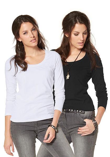 Aniston hosszú ujjú póló (szett, 2 részes, 2db-os csomag)