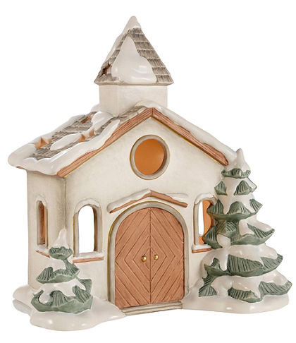Goebel téli templom dekoráció