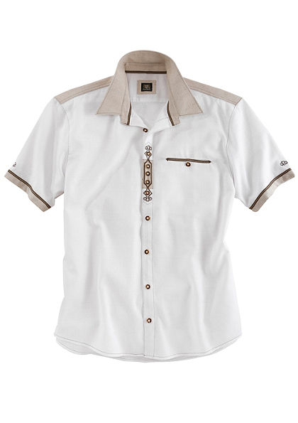 OS-Trachten krojová košeľa vplátennom vzhľade