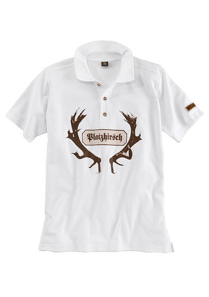 OS-Trachten Krojové pánske tričko polo s potlačou