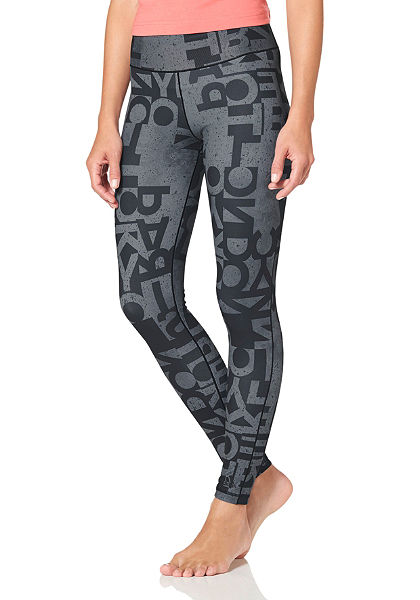 adidas Performance WORKOUT LONG TIGHT TYPO funkcionális leggings