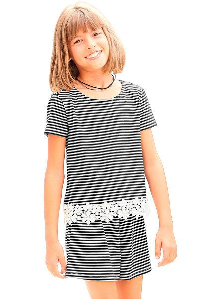 kidsworld póló horgolt csipkével, lányoknak