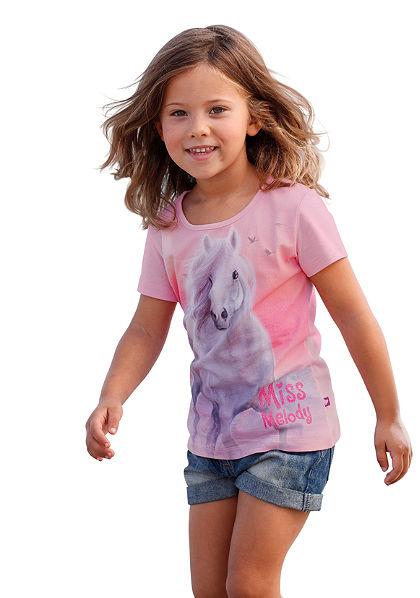 Miss Melody póló Miss Melody nyomásmintával, lányoknak