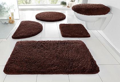 Fürdőszobaszőnyeg, fali WC szett, my home, »Merida«, magasság 32mm, csúszásgátló hátoldallal