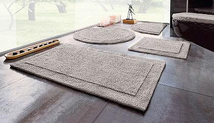 Fürdőszobaszőnyeg, félkör, Ecorepublic Home, »Kapra«, kétoldalas,bio pamutból