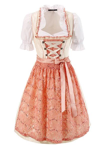 dirndl ruha dekoratív  fűzéssel (3 részes)