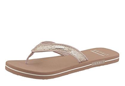 Esprit lábujjközös papucs, strasszkövekkel
