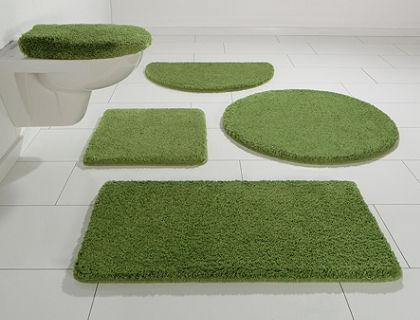 Fürdőszobaszőnyeg, 3 darabos szett álló WC-hez, my home, »Jambi«, vastagság  20 mm, csúszásgátló hátoldallal