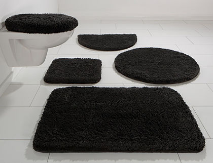 Kúpeľňová predložka, 3-dielna pred závesné WC, my home »Rondo«, výška 26 mm, protišmyková úprava