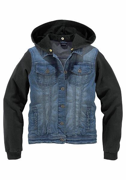 Arizona Džínová bunda s rukávy a kapucí z bavlny, pro dívky