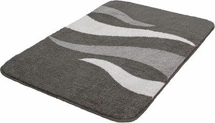 Fürdőszobaszőnyeg »Flame«, Meusch, magasság 20 mm, csúszásgátló hátoldal