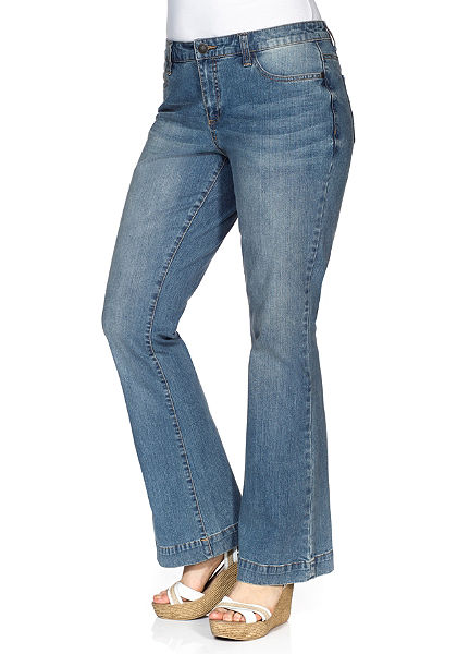 sheego Denim trapéz farmernadrág