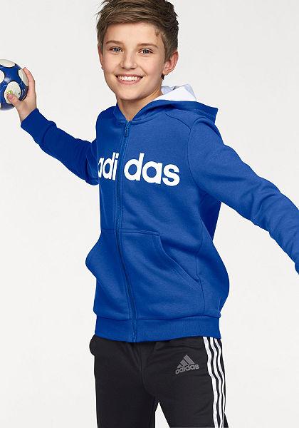 adidas Performance Mikina s kapucňou »ESSENTIALS LINEAR FULL ZIP HOODIE«