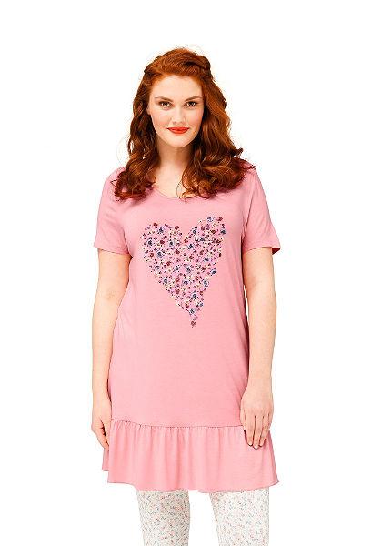 sheego Trend Dlouhé tričko s květinovým potiskem