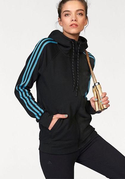 adidas Performance ESSENTIALS 3S HOODY mikina s kapucňou