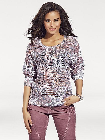 Mintás pulóver