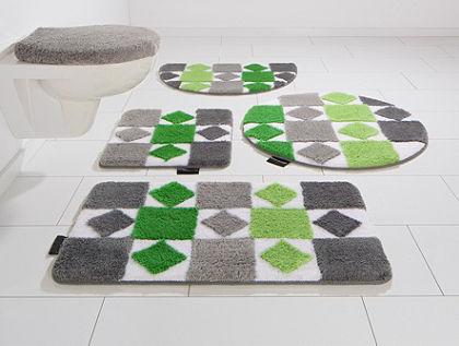 Fürdőszobaszőnyeg, 3 részes álló Wc szett, Bruno Banani, »Radasta«, magasság 20mm, csúszásgátlós hátoldallal