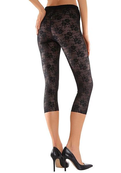 LASCANA alakformáló csipkés capri leggings