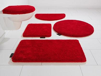 Koupelnový kobereček, souprava pro standardní WC, Bruno Banani, »Lana«, výška 25 mm, protiskluzová úprava