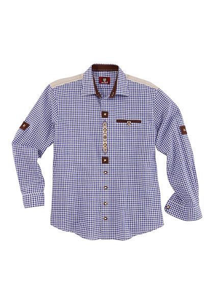 Krojová košeľa s rukávmi na vyhrnutie, OS-Trachten
