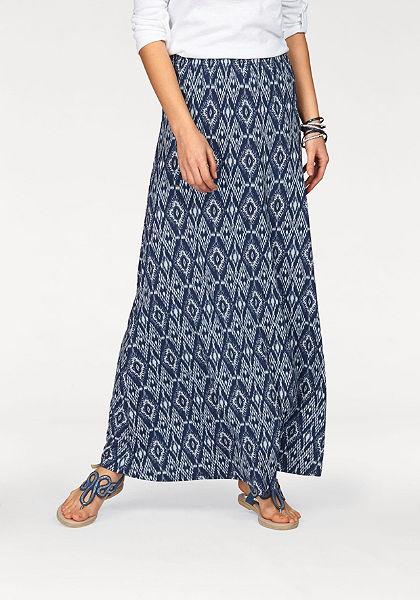 Boysen's Dlhá sukňa, mäkký, splývavý elastický džersej.