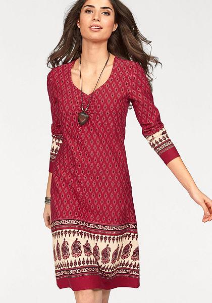 Boysen's Žerzejové šaty s potiskem bordury