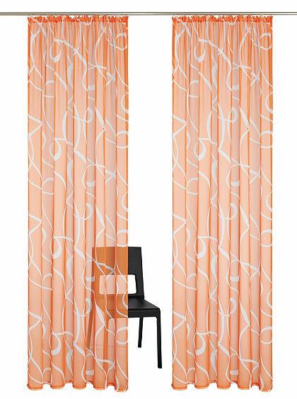 Záclona my home »Cala« řasící pásek (2 ks)