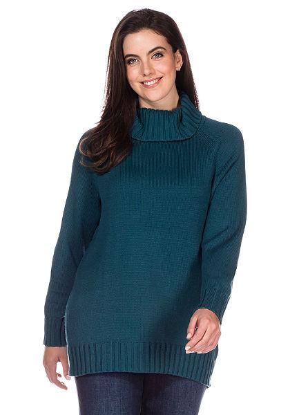 Pletený pulovr s rolákem, sheego Casual