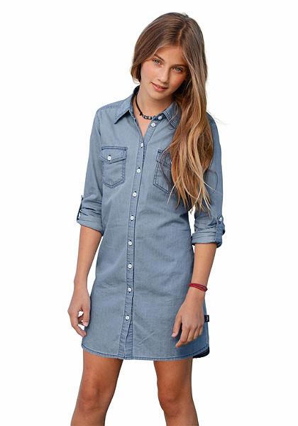 Arizona Šaty v ľahkom denimu, pre dievčatá