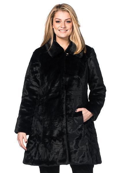 sheego Style Műszőrme kabát