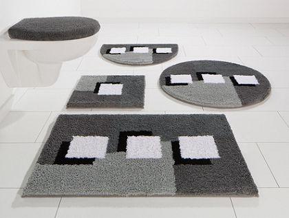 Fürdőszobaszőnyeg, 3 darabos szett fali WC-hez, my home, »Ada«, vastagság 21 mm, csúszásgátló hátoldallal