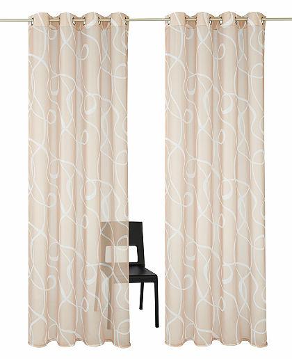 Záclona my home »Cala« s očky (2 ks)