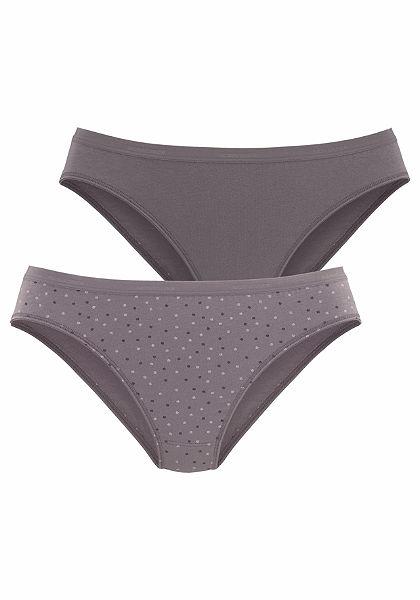 Schiesser Bederní kalhotky, vzorované + jednobarevné, 2 kusy