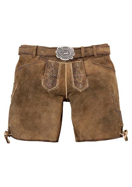 Krojové kožené nohavice krátke a opasok, Country Line