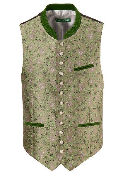 Krojová vesta pánska, Vzorovaná, Country Line