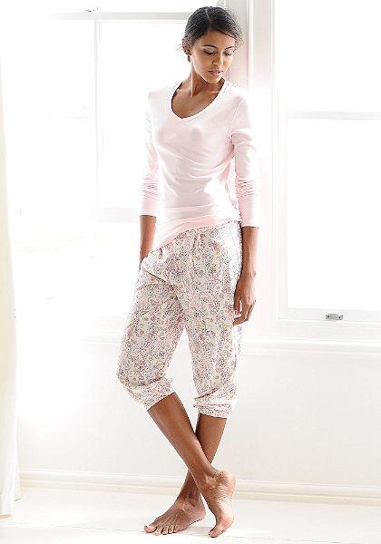 CALIDA Relaxační capri kalhoty květinové »May«