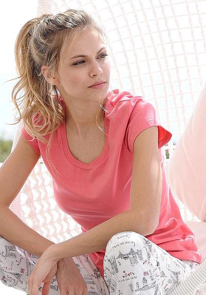 CALIDA rövidujjú póló »May« kerek nyakkivágással
