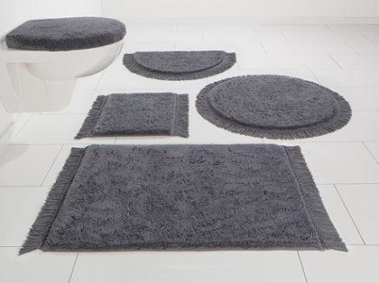Koupelnová předložka, 3-díl. před závěsné WC, Home affaire Collection »Finca«, biobavlna, výška 16 mm