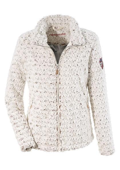Dámska krojová outdoorovvá bunda so vzhľade umelej kožušiny, Almgwand