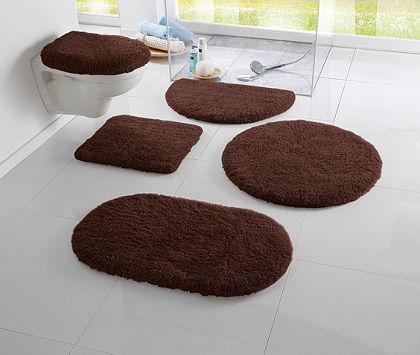 Fürdőszobaszönyeg, my home, »Merida«, magasság 32 mm,csúszásgátló hátoldal, ovális alakú