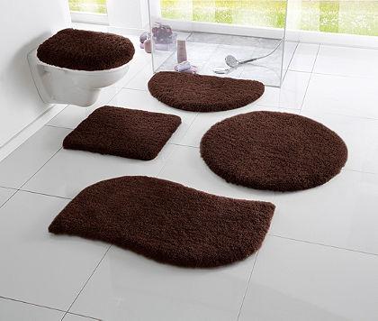 Fürdőszobaszönyeg, my home, »Merida«, magasság 32 mm,csúszásgátló hátoldal, hullámforma