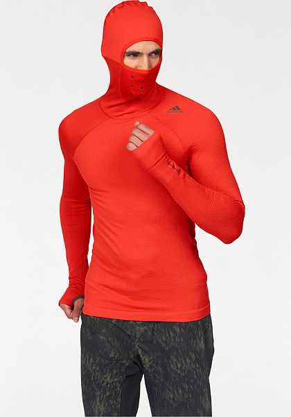 adidas Performance Športové tričko »TECHFIT HEAT HOODED LONG SLEEVE«
